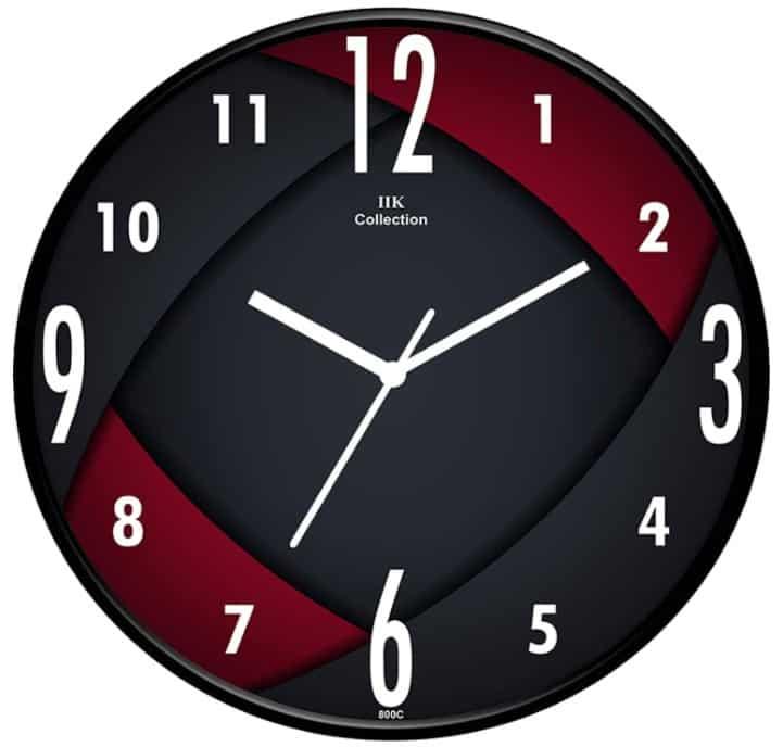 IIK COLLECTION Glass Wall Clock
