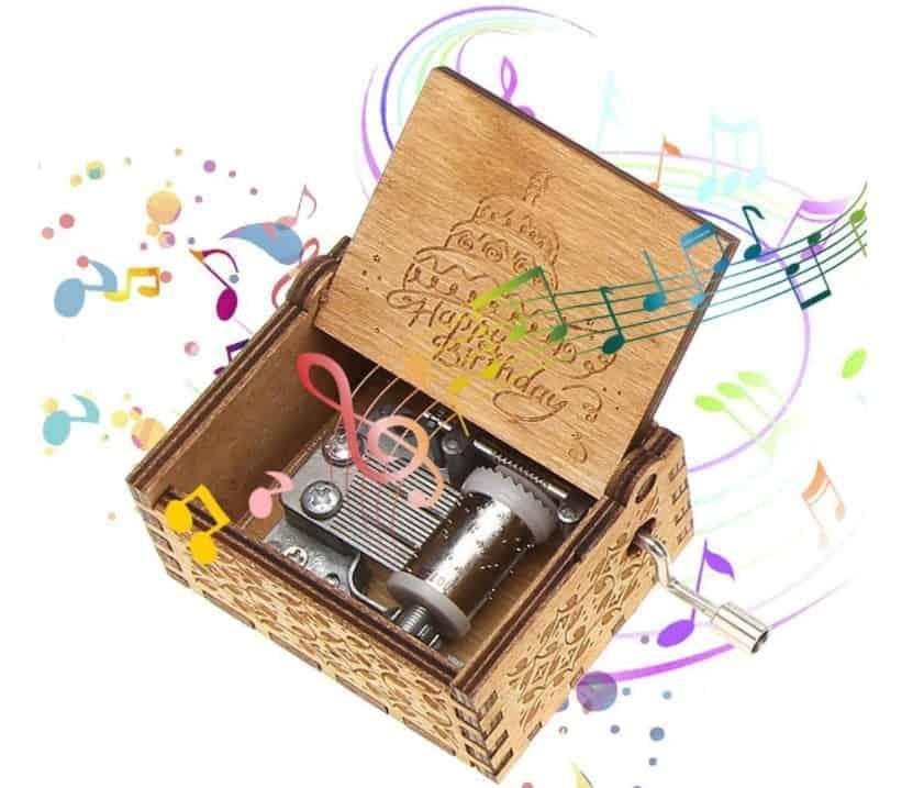 Wooden Music Box (Happy Birthday Instrument)