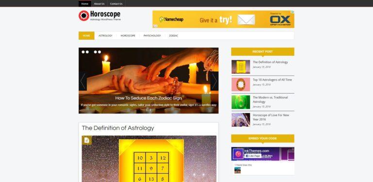 horoscope wordpress theme