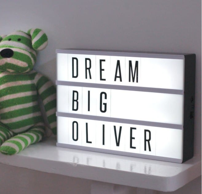 Cinematic Lightbox Led Changeable Letter & Symbols Tiles