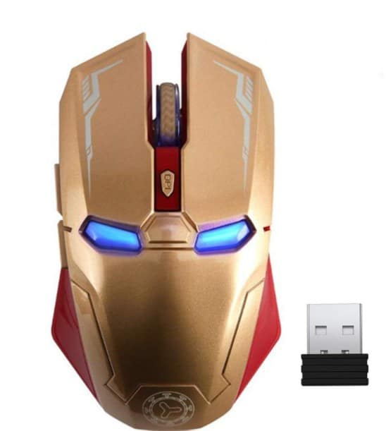 Iron Man Mouse with USB Nano Receiver