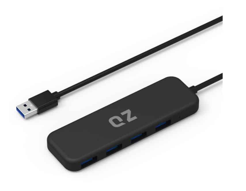 USB 3.1 Hub, 4 Port, 1.3 ft Built-in Cable, for Laptop high Speed
