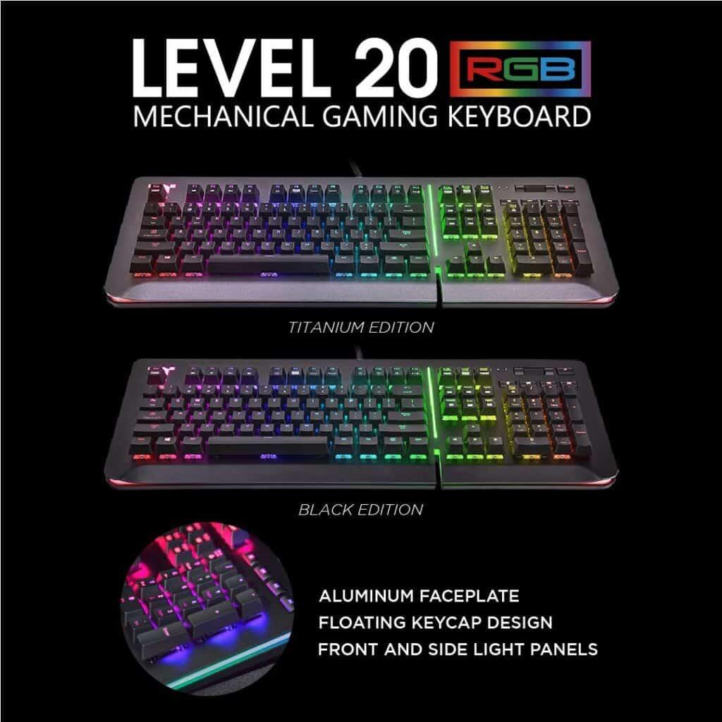Thermaltake Titanium Aluminum Gaming Keyboard