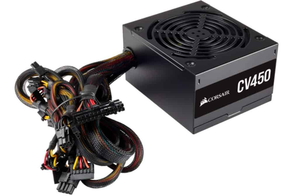 Corsair CV450, CV Series, 80 Plus Bronze Certified, 450 Watt Non-Modular Power Supply