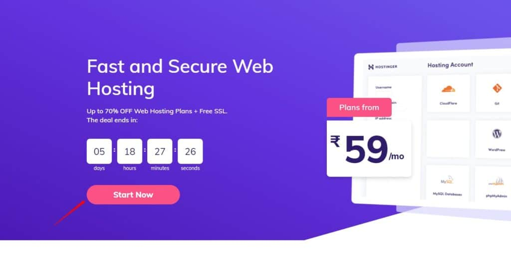 hostinger cheap linux web hositng india