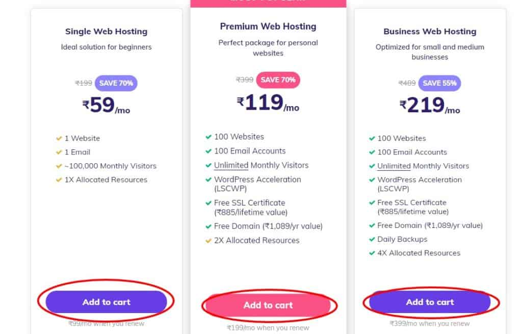 hostinger cheap web hosting plans